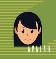 cute woman cartoon vector image
