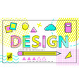 design colorful poster with geometric figures vector image vector image
