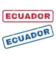 Ecuador Rubber Stamps vector image vector image