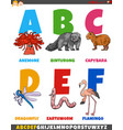 educational cartoon alphabet collection vector image vector image