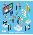 elections and voting isometric composition vector image vector image