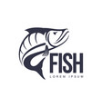 fish flat icon pictogram silhouette vector image