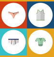 flat icon clothes set of lingerie casual singlet vector image vector image
