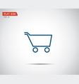 flat shopping cart icon logo design vector image vector image