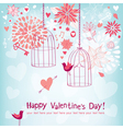 Floral card for valentines day vector | Price: 1 Credit (USD $1)