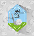 golf club sport balls background vector image