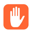 hand icon for mobile applications simple and vector image