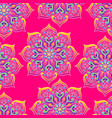 indian ornamental seamless pattern ethnic folk vector image vector image