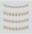 italian bunting vector image vector image