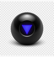 magic 8 ball eight isolated vector image vector image