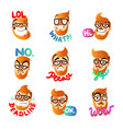man emotions set vector image vector image