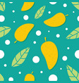 mango seamless pattern vector image vector image