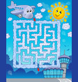maze 2 with airplane vector image