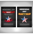 Memorial day poster with flag vector image vector image