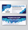 modern corporate banner background design vector image