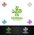 natural cross medical hospital logo for emergency vector image vector image