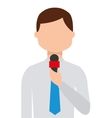 news reporter isolated icon design vector image