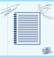 notebook line sketch icon isolated on white vector image vector image