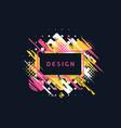 paint brush promotion template design vector image