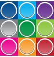 Paper round colorful banner Circle button vector image