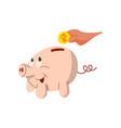 piggy bank flat design vector image vector image