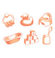 pink children icons vector image vector image