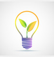 plant grows inside a light bulb eco green concept vector image