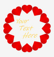 postcard for valentines day symbol of love vector image vector image