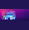 rehabilitation center concept banner header vector image vector image