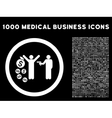 Robbery Rounded Icon With Medical Bonus vector image vector image