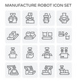 robot and box icon vector image