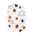 romantic pale color floral vector image vector image