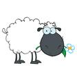 Royalty Free RF Clipart White Sheep Cartoon vector image vector image