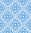 Seamless blue and white damask pattern vector image vector image