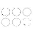 set graphic circle frames wreaths vector image