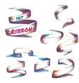 set of colored robbons on transparent vector image vector image