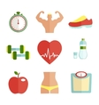 Set of flat health and sport icons vector image