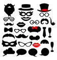 set photo booth props for party vector image vector image