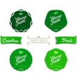 Set vintage labels on the theme of nature vector image vector image