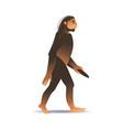 sketch caveman ape-like walking isolated vector image