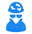 Spotted Spy Grainy Texture Icon vector image vector image