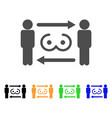 swingers exchange icon vector image vector image