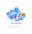 taxi service web site banner template vector image vector image