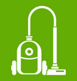 vacuum cleaner icon green vector image vector image