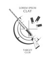 vintage clay target and gun club labels vector image vector image