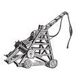 vintage engraving a catapult vector image vector image