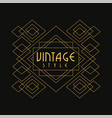 vintage style logo luxury geometric monogram vector image vector image