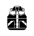 Waistcoat sketch icon isolated on backgroun vector image vector image