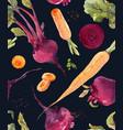 watercolor beet pattern vector image vector image