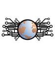 world future icon vector image vector image